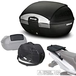 SHAD - KIT-SHAD-1428/214 : Kit fijacion y maleta baul trasero + respaldo + bolsa interna regalo SH45 --- BMW R1200R (2015-2016) --- BMW R1200RS (2015-2016)