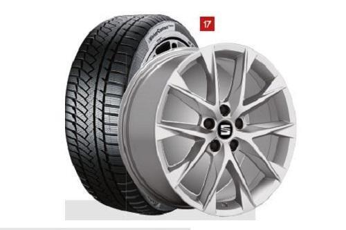 SEAT WKR Perf. 7,5x18 5/112/51 Alu-Komplettrad Gar. 225/40 R18 92V, CTI TS850P - S225401850