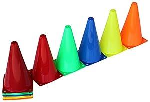 agility sport pour chiens - lot de 20 plots de délimitation 23 cm, 5 couleurs, contient également: un sac pratique - 20x MK23ryobg