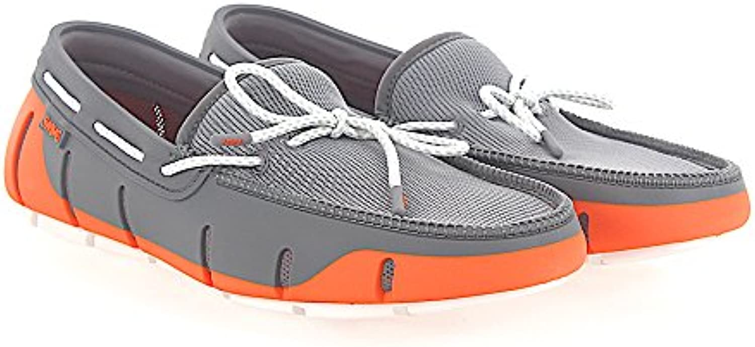 Swims Mokassins Bootsschuhe Gummi Grau Orange
