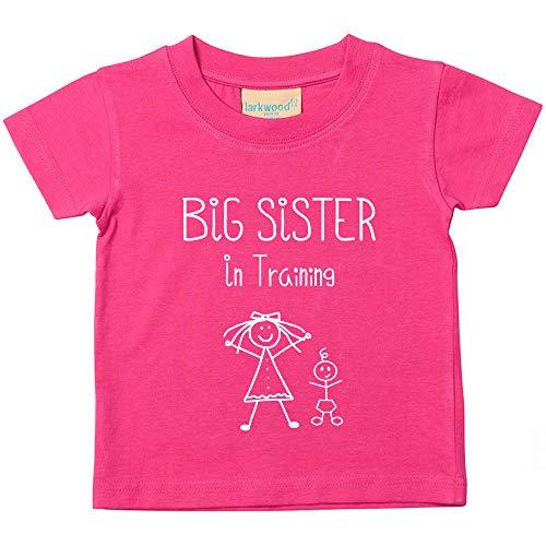 Grande sorella in training rosa maglietta bimbo bambino bambini disponibile nelle taglie 0-6 mesi to 5-6 anni nuovo da bambino sorella regalo - rosa, 5-6 years