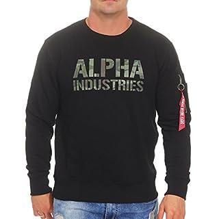 Alpha Industries Herren Pullover Camo Print schwarz L