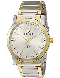 Maxima Analog Silver Dial Men's Watch-47973CMGT