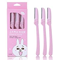 3pcs Eyebrow Razor Trimmer Shaver Makeup Cosmetic Tools Beauty Knife Hair Remover