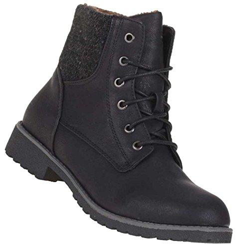 Ankle Boots Mulheres Sapatos De Couro Óptica Levemente Alinhado Botas Arte Pele Lace-36-41 Preto