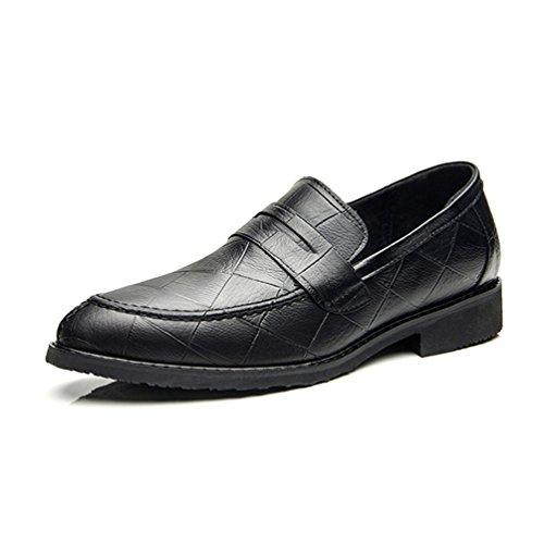 Feidaeu Business Mezze Scarpe in Gomma Suola Esterna Confortevole Basso Rilassato Blocco Tacco Pantofole Nero 40 EU