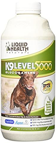 Liquid Health K9 Level 5000 Glucosamine Chondroitin Opti MSM 8 or 32 oz (32 ounces) [Package may vary] by Liquid