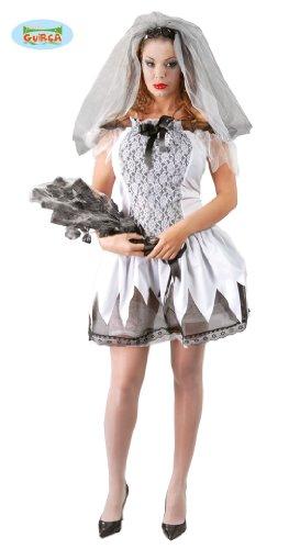Horror Hochzeit Party Kostüm für Damen Leiche Gr. XS-M, Größe:S/M (Tote Braut Halloween-kostüme)