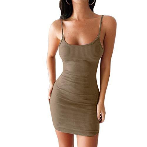 jieGREAT ❤❃Kleiden Räumungsverkauf❤❃ ,Damenfrauen Sexy Solid Sleeveless Mini Dress Camisole Summer Dressby - Jersey-stil Pin