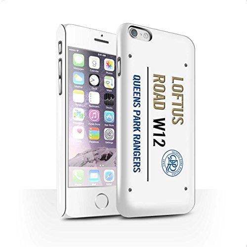 Offiziell Queens Park Rangers FC Hülle / Glanz Snap-On Case für Apple iPhone 6S / Weiß/Gold Muster / QPR Loftus Road Zeichen Kollektion Weiß/Gold