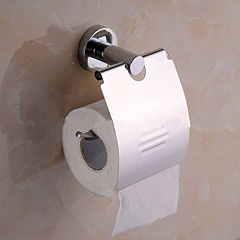 YUPD@Cromato in ottone e acciaio inox parete montato toilet paper holder