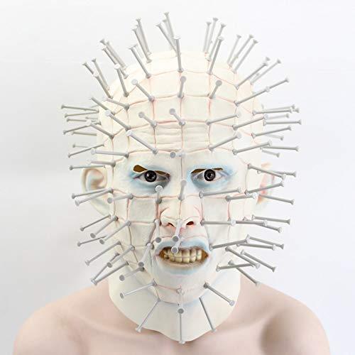 Dodom Adult Cosplay Realistische Latex Party Masken Halloween Maske Horrorfilm Hellraiser Scary Pinhead Masken Grimasse Monster