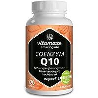 Coenzima Q10 200 mg, 120 cápsulas veganas para 4 meses, la mejor biodisponibilidad,