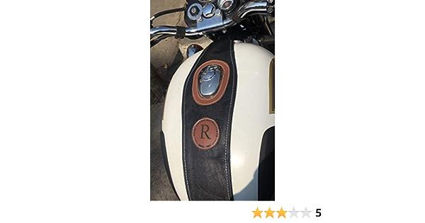 Noir Couvercle de r/éservoir dessence SaharaSeats pour Royal Enfield Classic 350//500