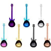 Xrten 7 Pcs Guitare Cuillères à Café, Cuillère à Dessert Acier Inoxydable Instrument Guitare en Forme de Cuillères à…