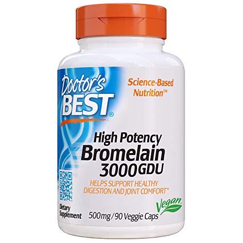 Doctor's Best | Bromelina | 3.000 GDU | 500 mg | 90 capsule vegane | senza glutine | senza soia