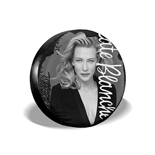 DAICHAI HJKAA Spare Tire Cover Cate Blanchett Wheel Covers Universal Tires Protectors