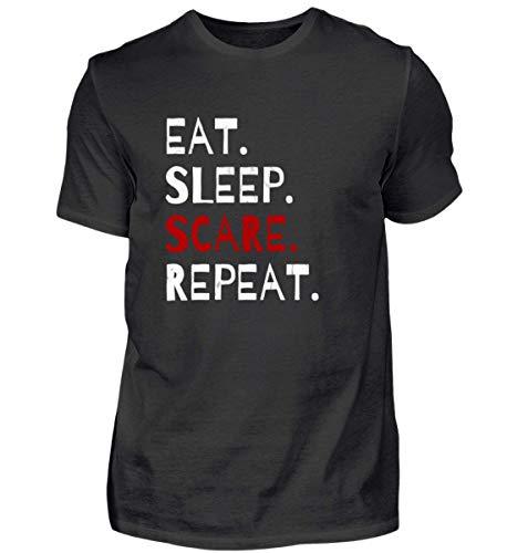 Eat Sleep Scare Repeat - Diabolischer Spaß am Erschrecken und Fürchten zu Halloween - Herren Shirt