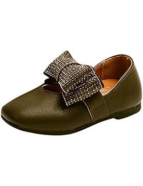 Clode® Kinder Kid Infant Mädchen Kristall Bowknot Solide Leder Prinzessin Einzelne Schuhe