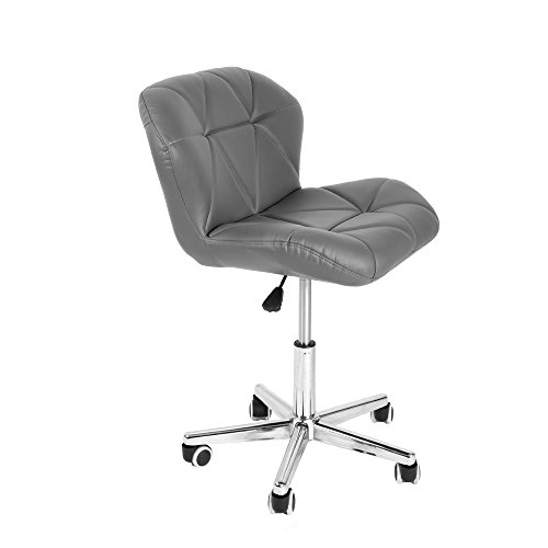Newzeal Drehstuhl/Bürostuhl mit Chrombeinen, Räder und Hebel grau