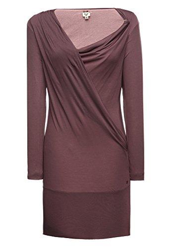khujo -  Vestito  - Vestito  - Maniche lunghe  - Donna rot (489 MAUVE) Medium