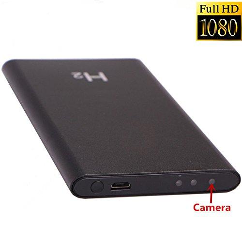 HOKATec EC1146 Powerbank FULL HD 1080p 5Mpixel Kamera, 5000mAh SpyCam Spy Cam Spionage Kamera | 90° Weitwinkelobjektiv | Nachtsichtfunktion