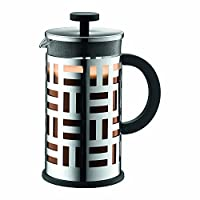8 Cup : Bodum Eileen French Press Coffee Maker, Borosilicate Glass - 8-Cup (1. 0 L/34 oz), Shiny