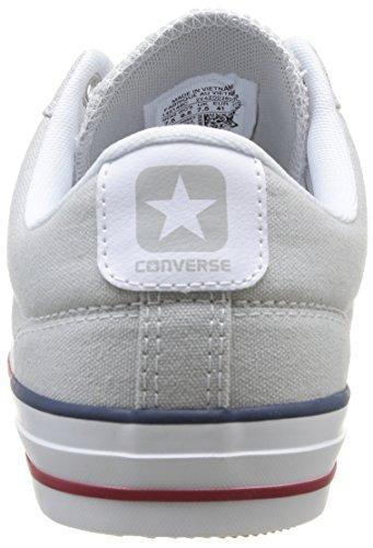 Converse Star Player Adulte Core Canvas Ox, Baskets mode mixte adulte Gris (Gris Clair/Blanc)