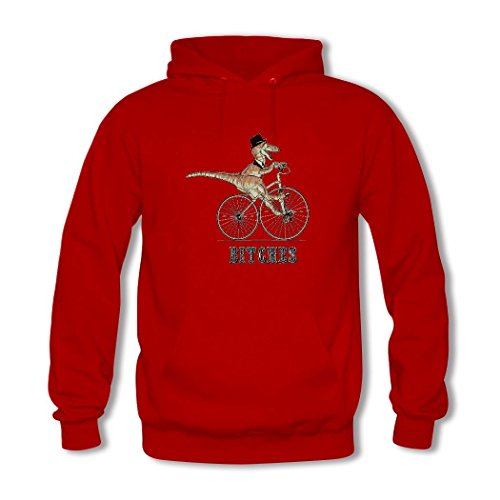 weileDIY Dinosaur DIY Custom Women's Printed Hoodie Sweatshirt Red_B