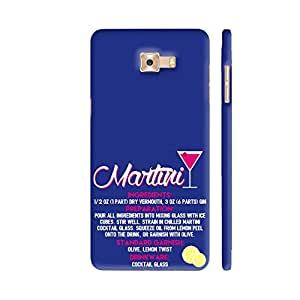 Colorpur Samsung C9 Pro Cover - Martini On Blue Printed Back Case