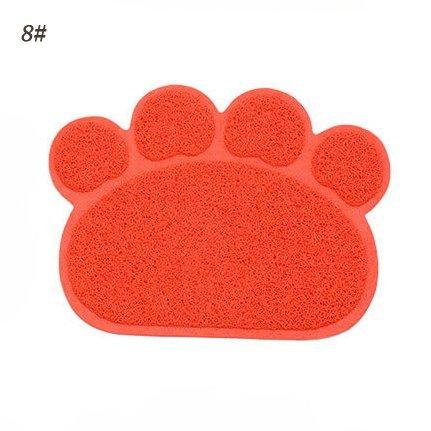 bonytain Colorful Pet Puppy Dog Cat Schüssel Matte Pad niedlicher Pfotenabdruck Bett Food Wasser Feed Tisch-Sets abwischbar mehrfarbig (Pet Matte Feed)