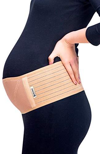 Luamex® Schwangerschaftsgürtel - Bauchband Schwangerschaft - Schwangerschaftsgurt in Verstellbarer Größe - Bauchstütze gegen Bauch- und Rückenschmerzen - Bauchgurt Schwangerschaft - Damen