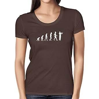 Texlab Querflöte Evolution - Damen T-Shirt, Größe S, Braun