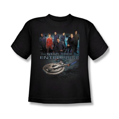 Star Trek - Unternehmens Crew - Jugend Schwarz Kurzarm T-Shirt für Jungen Black