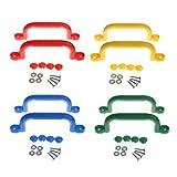 Homyl 4 Paar hochwertige Haltegriffe Handläufe, Ideal für Klettergerüste, Baumhäuser und Spielhaus ( 4 Farben )