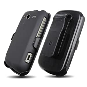 HTC 3-in-1 Combo Case and Holster for HTC Wildfire S (T-Mobile USA) - Non-Retail Packaging - Gray