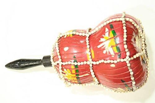 Cabasa Rassel - Afuche de Boule - Shekere original aus Mexico (rot)