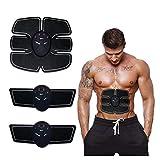 KCaNaMgAl Ejercitador Abdominal, EMS Estimulador de músculos Abdominales Cinturón tonificador Muscular Familia Ejercicio Equipo de Gimnasia Hombres y Wome