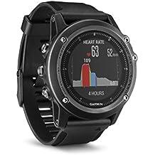 Garmin 010-01338-71 Fenix 3 HR - Reloj multideporte con GPS y correa, Reloj Gris/Correa Negra, Talla única