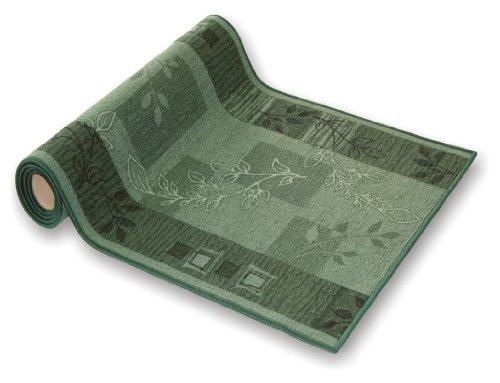 der Meisterei Teppichläufer Flur Läufer Brücke Teppich Agadir Akzent grün Meterware rutschfest 80 cm breit 80 x 300 cm SALE in 44 Größen - Grüner Läufer Teppich