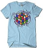 Camisetas La Colmena 4189-Rubikcube (M, Azul Celeste)