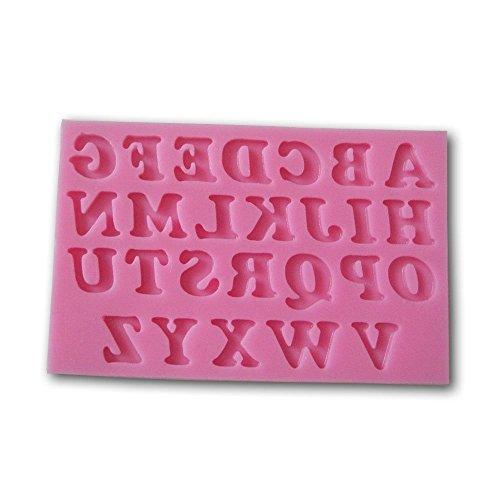Allforhome Silikonform mit 26 Großbuchstaben, Buchstaben Alphabet, 3D, Silikon, für Fondant Tortendeko Seife Form Tools Teelichtformen (Alphabet Buchstaben 3d)