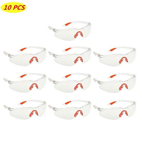 10 Packung Schutzbrille Klare Schutzbrillen Zum Schutz der Augen mit Klaren...