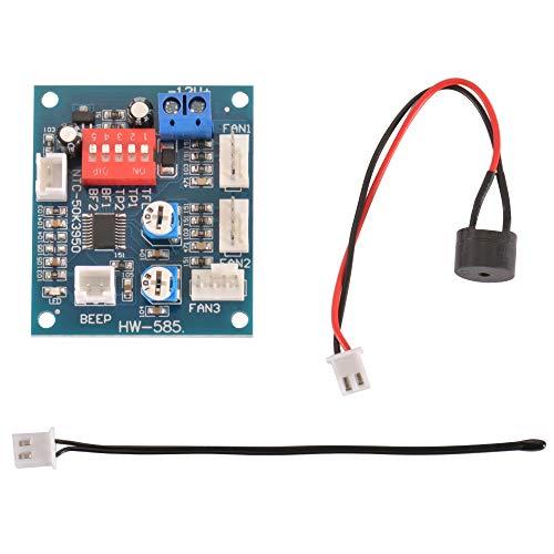 Sun3Drucker 12V PWM PC CPU Fan Temperature Control Speed Controller Module High-Temp Alarm 50mm x 43mm - Alarm-control-modul