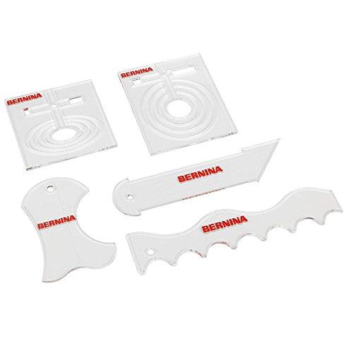 Bernina Formschablonen-Set (5 teilig, 6mm - Bernina Fuß Nähmaschine