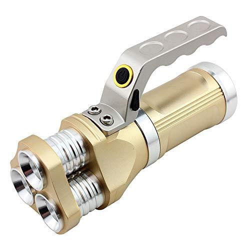 FTLY Handheld Flutlicht 2400 Lumen CREE T6 LED Taschenlampe Scheinwerfer IP65 wasserdicht wiederaufladbare LED Taschenlampe Batterien inklusive Wandern Radfahren und Notfall