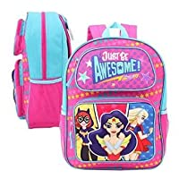 """Super Hero Backpack - DC Comics Girls Just Be Awesome 3D Pop-Up 16"""" 68164"""