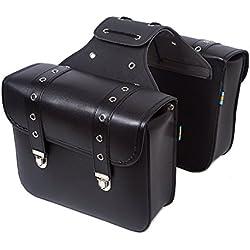 Bolsas de Cuero y Alforjas para Motocicletas y Bicicletas Triangular Moda Cuero Sintético al Aire Libre Bolsas de Sillín de Piel para Harley Davidson ( Multi-Modelo )