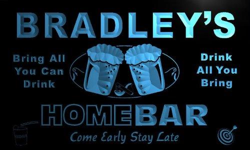 p1181-b Bradley's Home Bar Beer Family Last Name Neon Light Sign Barlicht Neonlicht Lichtwerbung - Bradley Bar