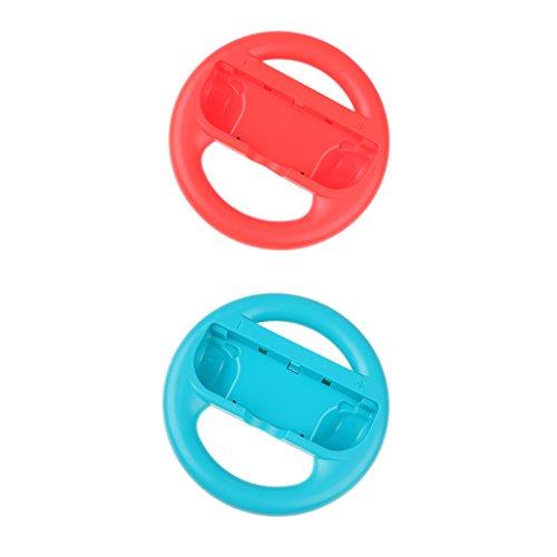Segolike 2Piece Steering Wheel Handle Grips for Nintendo Switch Joy-Con Controller